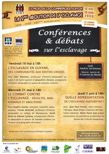 Conférence/débat sur l'Esclavage en Guyane, des communautés aux destins croisés'