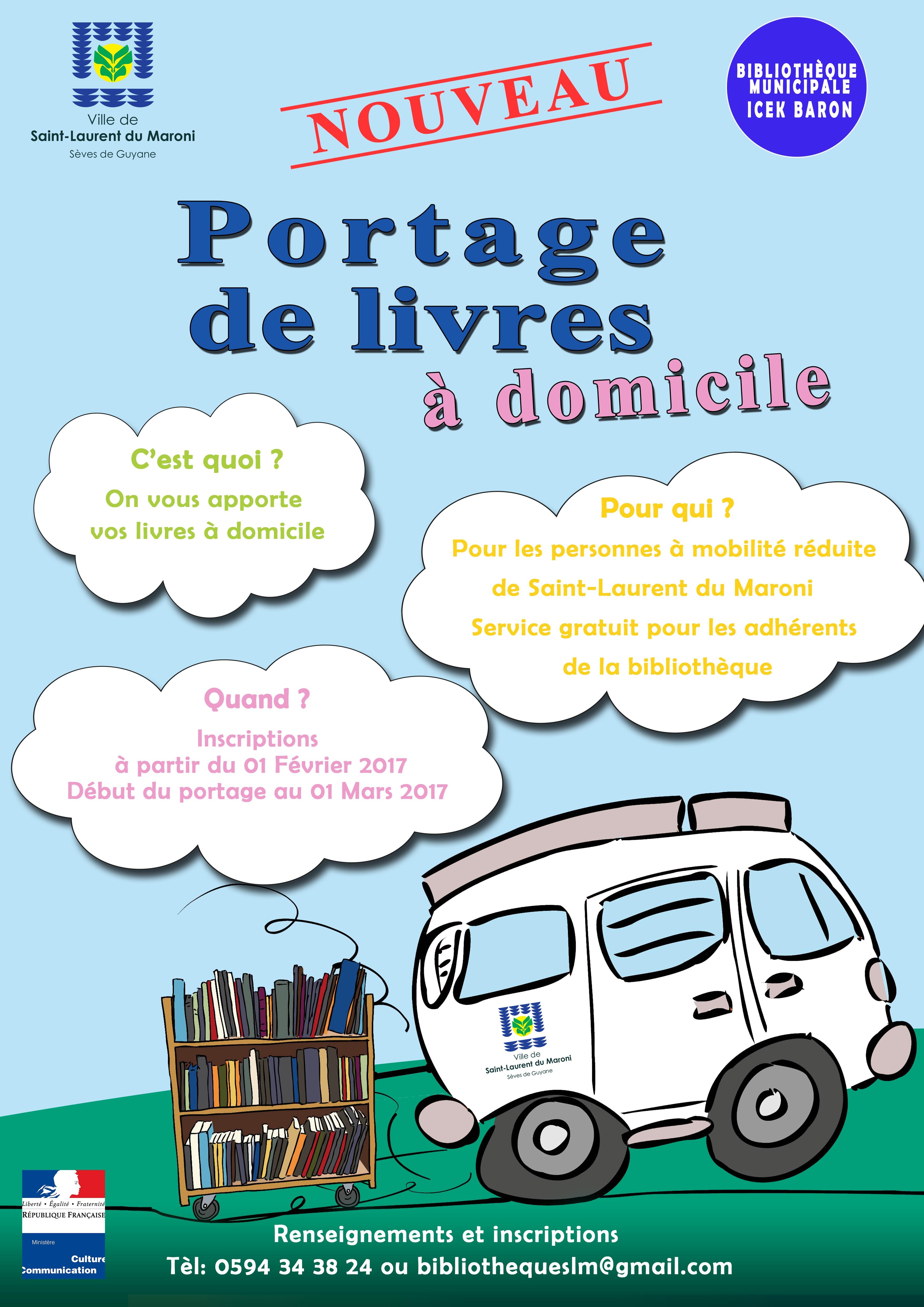 Nouveauté : le portage de livres à domicile arrive à Saint-Laurent !