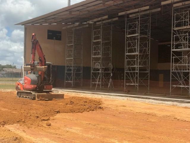Travaux d'extension au gymnase municipal Maximin Noel