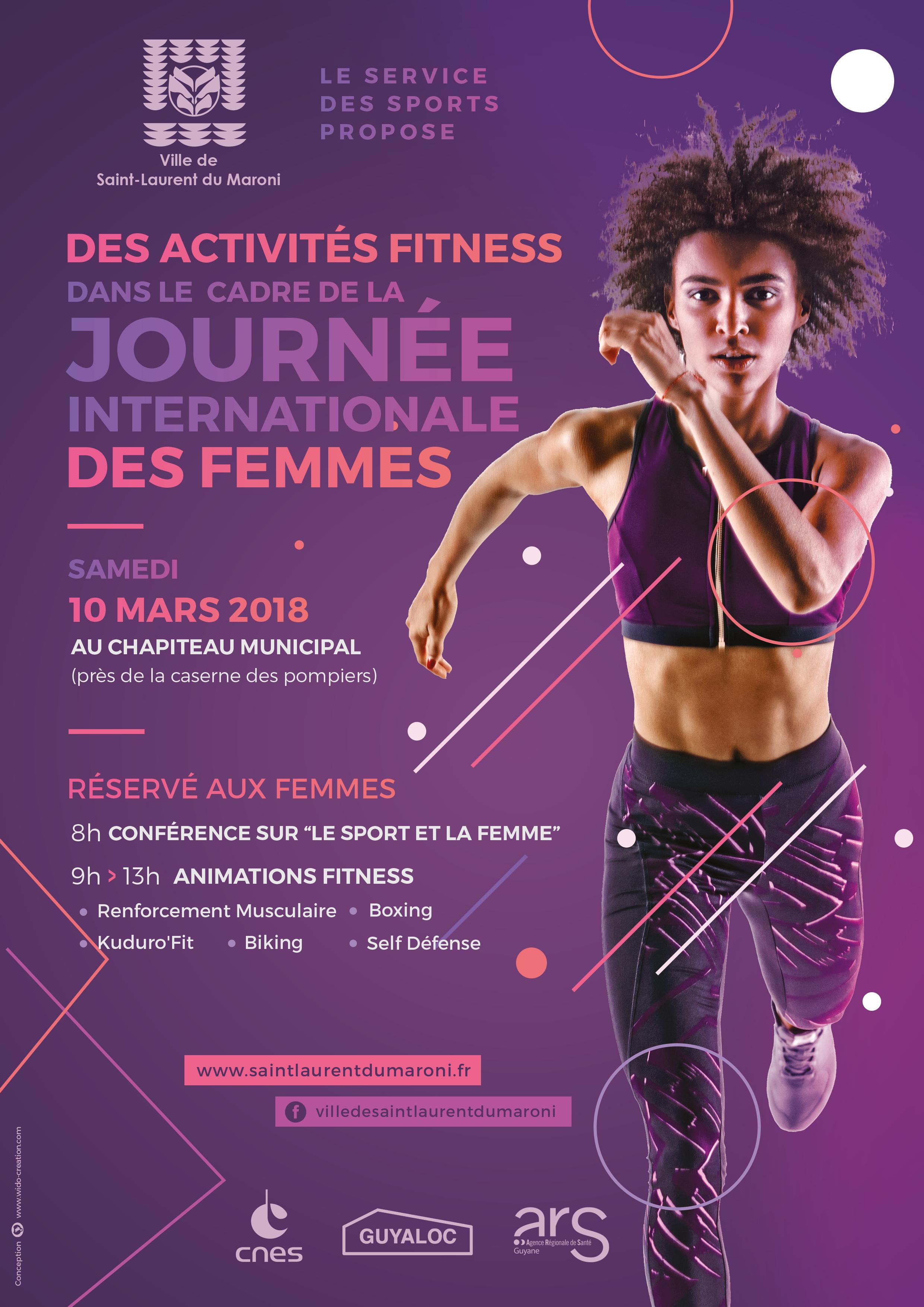 10 mars : activités fitness dans le cadre de la Journée Internationale des Femmes