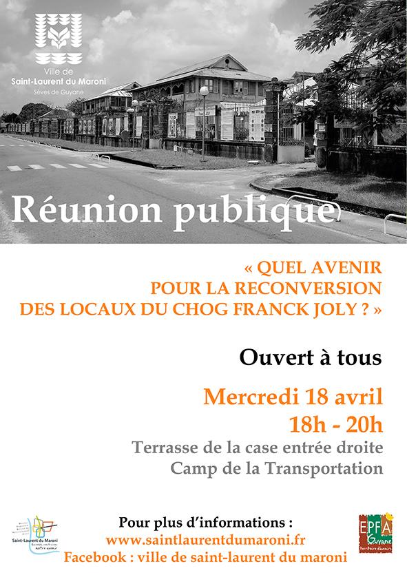 Le 18 avril venez participer à la réunion publique autour de la reconversion des locaux du CHOG F JOLY