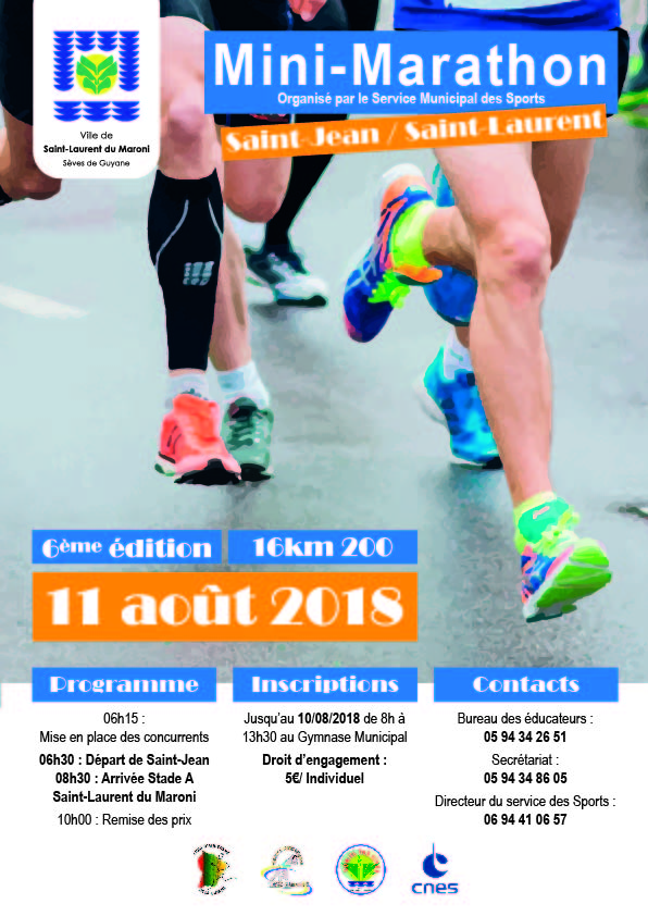 Mini-Marathon Saint-Jean -> Saint-Laurent du Maroni