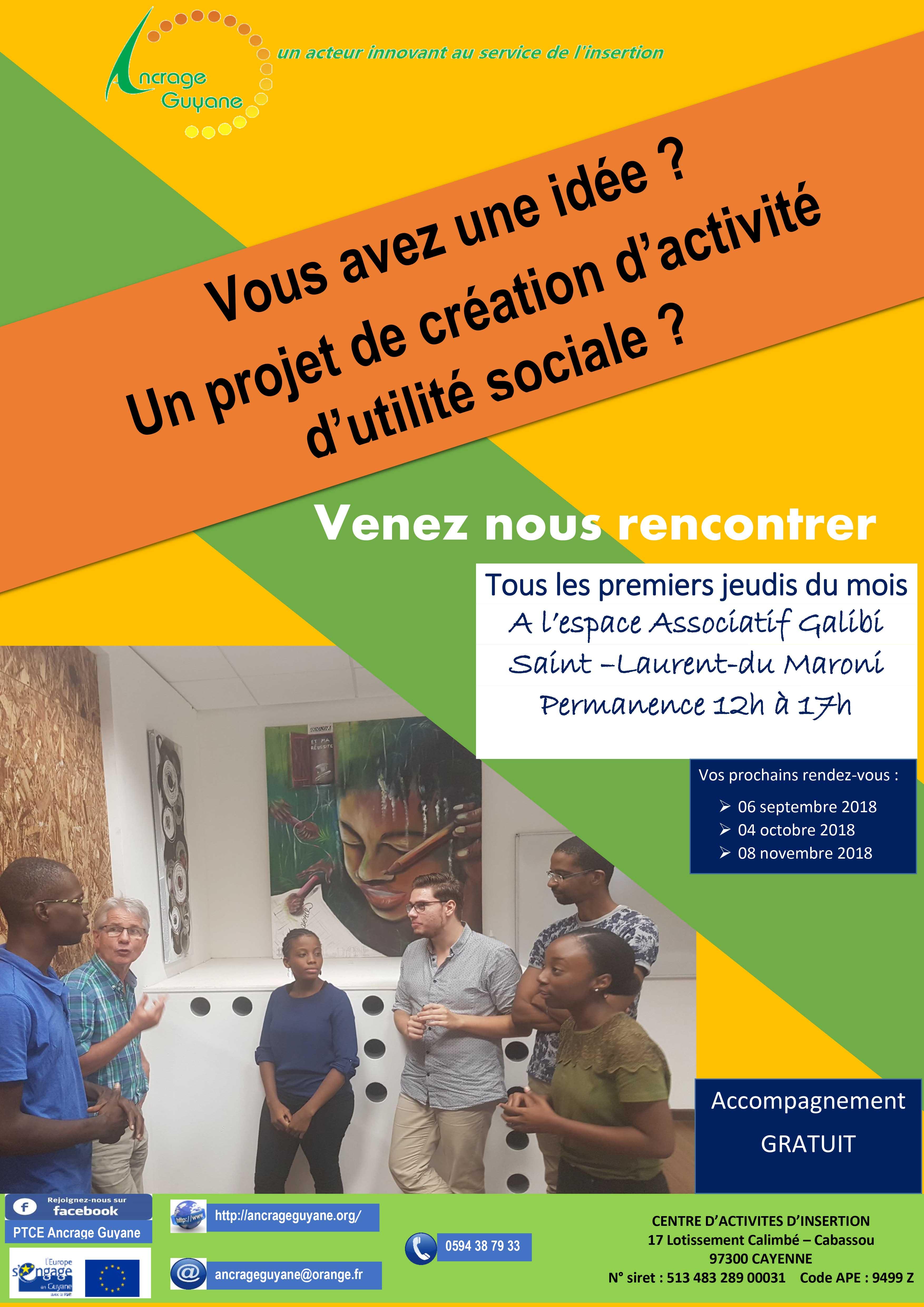 Pour les porteurs de projets d'utilité sociale, permanence mensuelle du PDRL ce jeudi 06 septembre