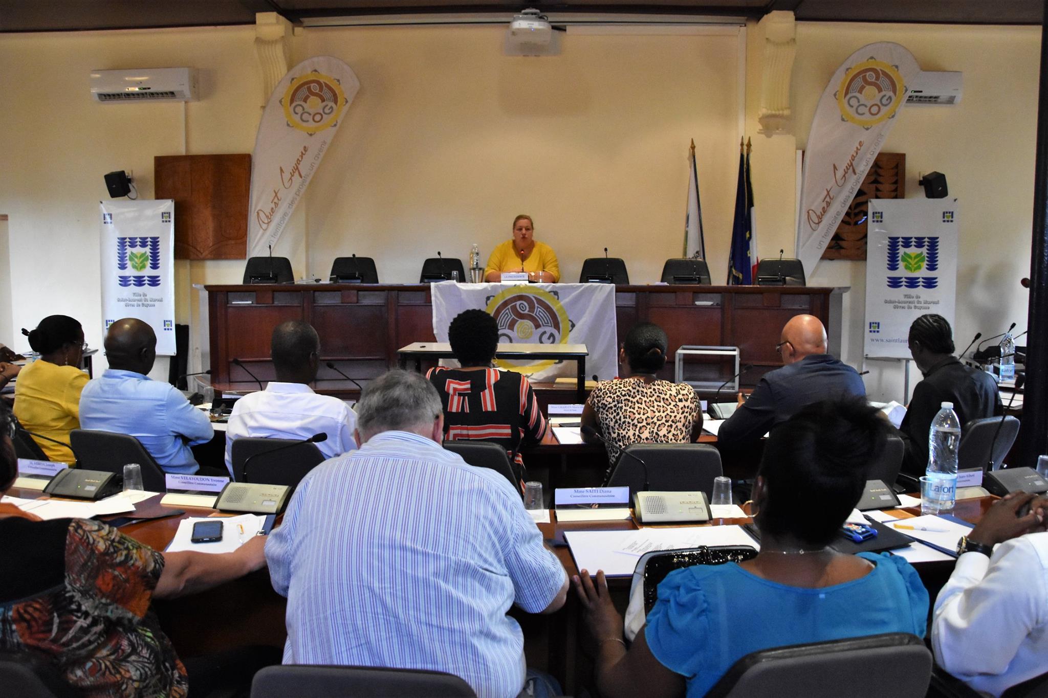 [CCOG] : Madame le maire de Saint-Laurent du Maroni, élue présidente de la CCOG