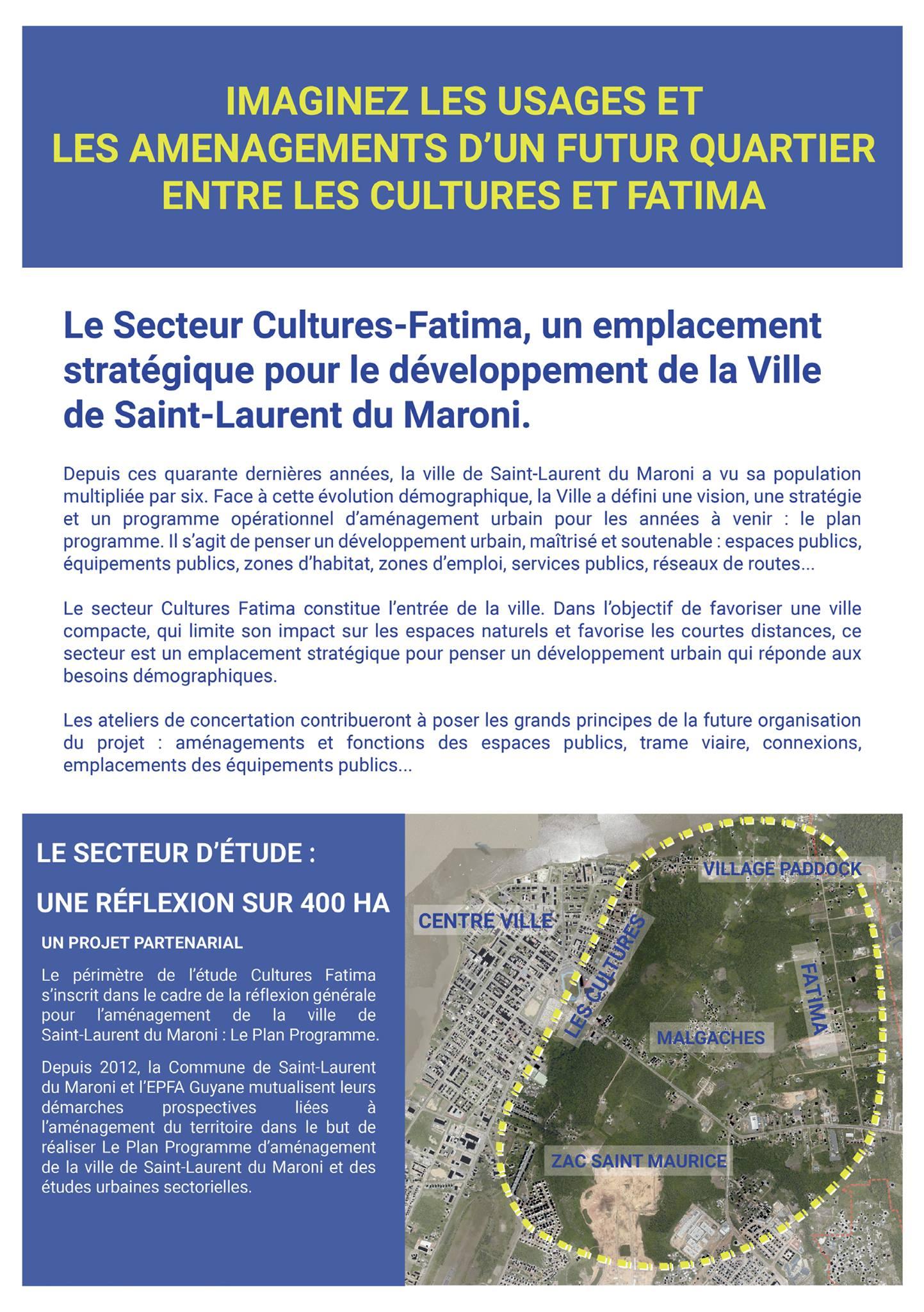 [Aménagement urbain] : réunions publiques dans le cadre de l'aménagement du secteur Cultures Fatima