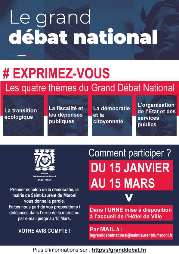 [Grand débat national] : venez donner votre avis