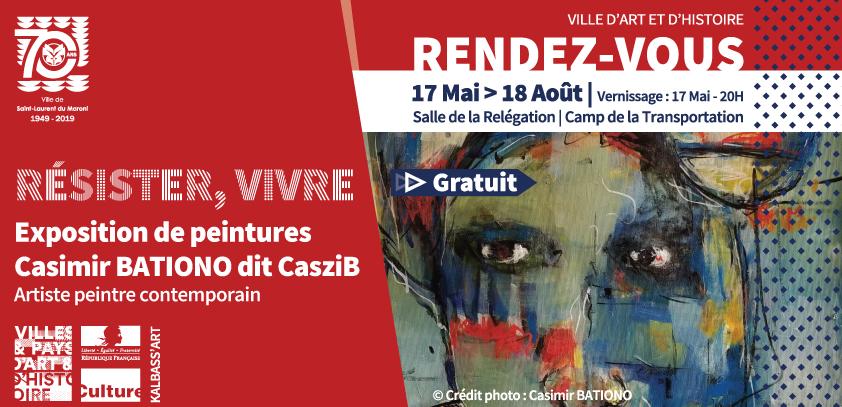 """[Exposition] : """"Résister, Vivre"""" du peintre contemporain Casimir BATIONO"""