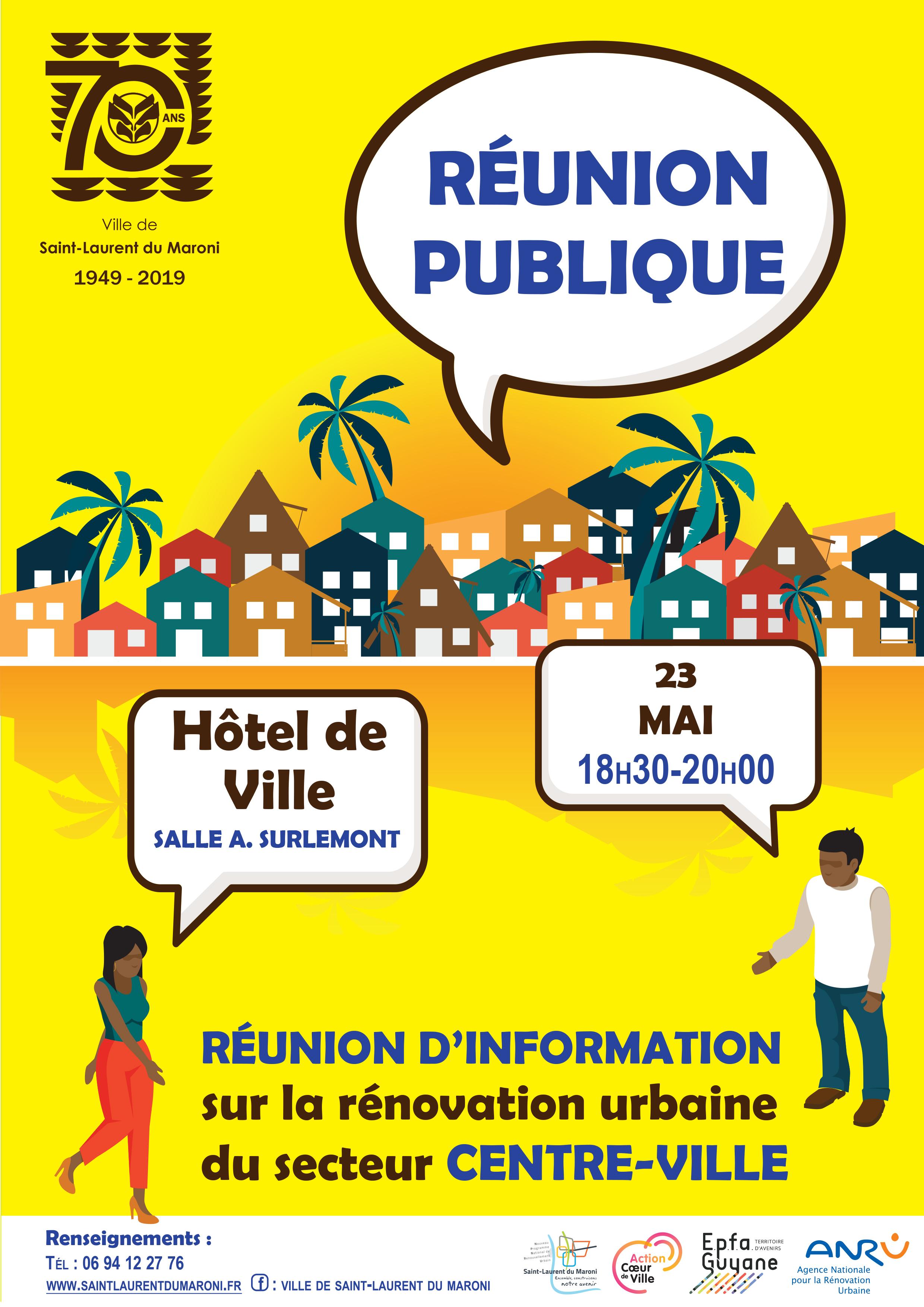 Rénovation urbaine : réunion publique à l'Hôtel de ville le 23 mai