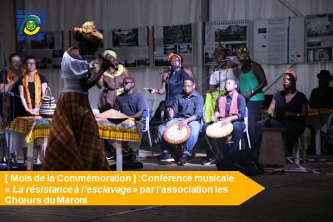 [Mois de la Commémoration] : retour en images sur la conférence musicale « La résistance à l'esclavage »