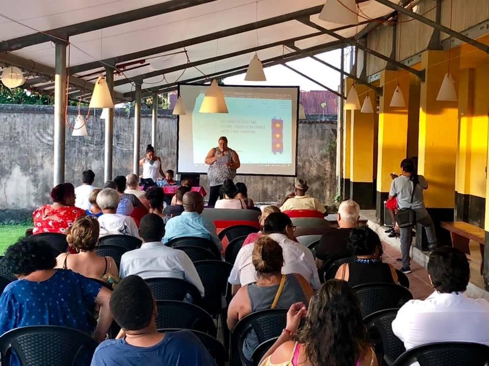 [Saint-Laurent du Maroni - Rendez-vous du patrimoine] :  conférence « la langue Kali'na : tradition orale et graphie » au camp de la transportation