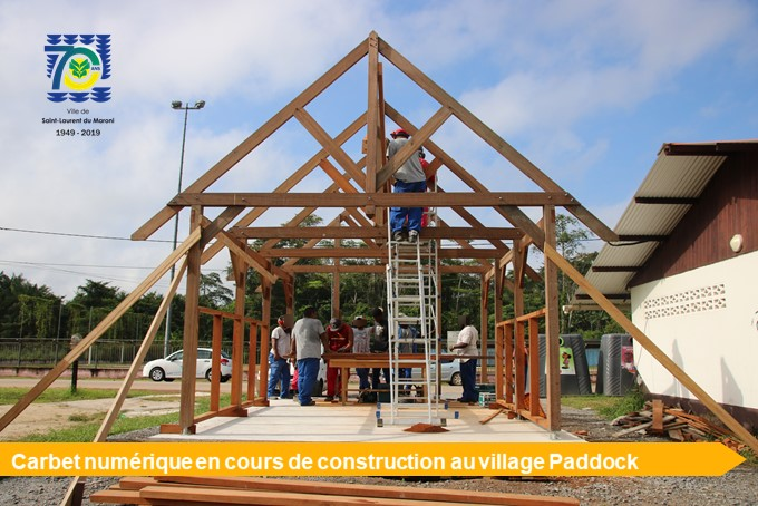 [Amélioration du cadre de vie] : la municipalité investit dans l'installation de trois premiers carbets numériques dans les quartiers
