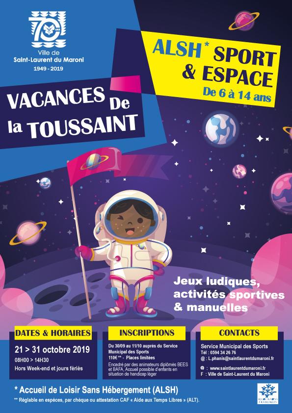 """[Sport] : début des inscriptions pour l'ALSH """"Sport et Espace"""" des vacances de la Toussaint"""