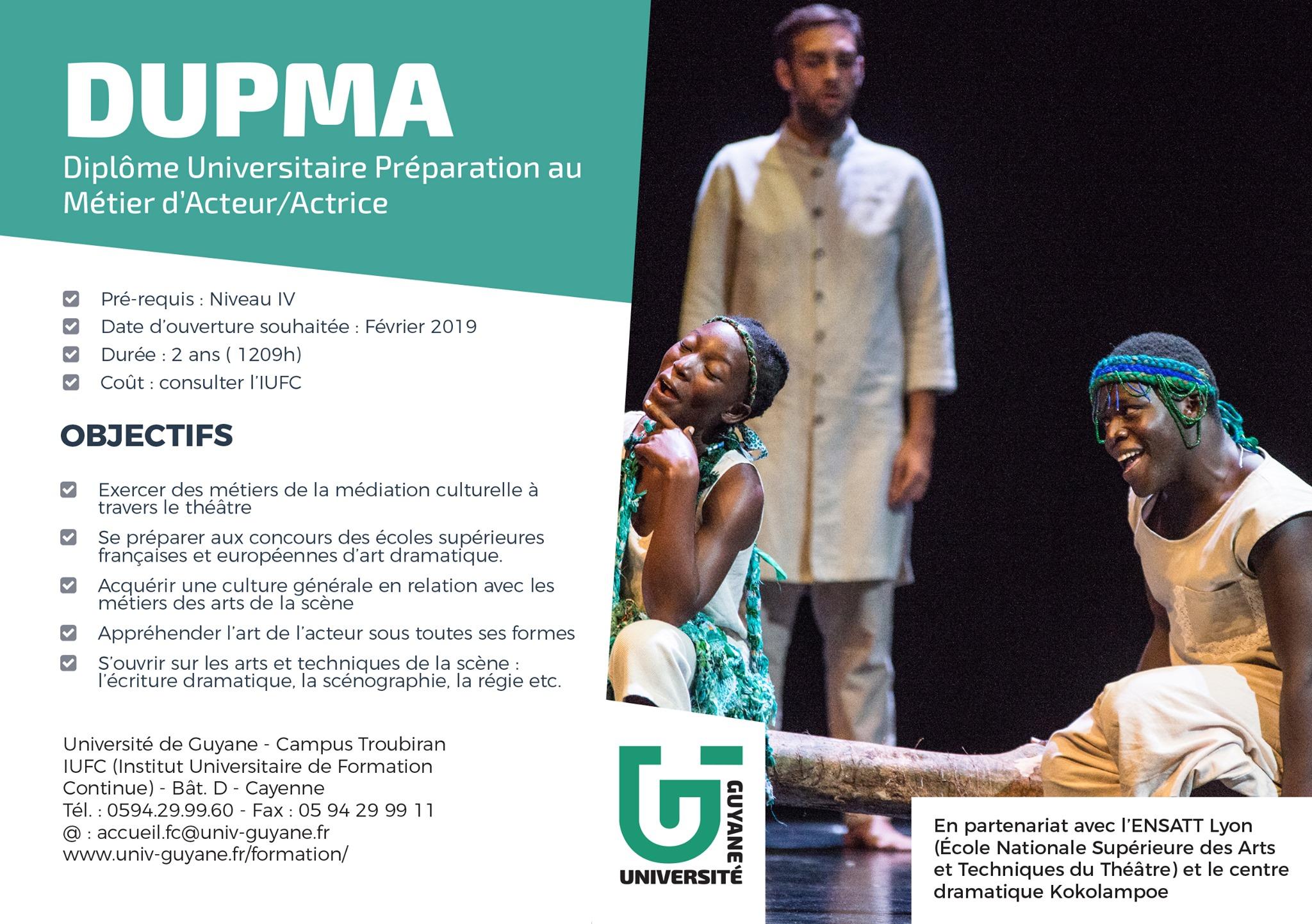 [Formation] : les étudiants du Diplôme Universitaire de Préparation au Métier d'Acteur (DUPMA - Bac+2) font leur rentrée au centre dramatique #kokolampoe