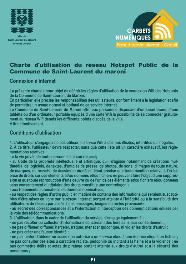 [Carbets numériques] : lancement de 4 premières zones de wifi gratuit à Saint-Laurent du Maroni