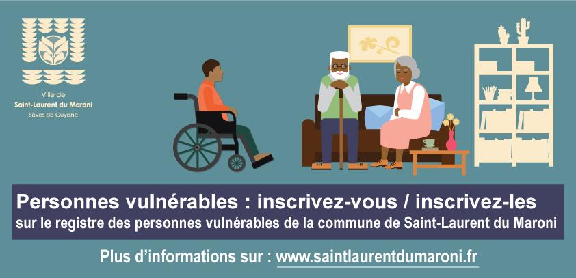 [#solidarité] : personnes âgées et en situation de handicap, la commune de #saintlaurentdumaroni vous propose de vous inscrire sur le registre des personnes vulnérables