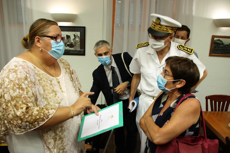 [#VisiteMinistérielle] : Madame le maire échange avec la ministre des Outre-mer autour de la situation et des besoins sanitaires de Saint-Laurent du Maroni
