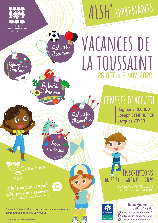 [#VacancesToussaint] : Les inscriptions sont ouvertes pour les ALSH des vacances de la Toussaint à #SaintLaurentduMaroni