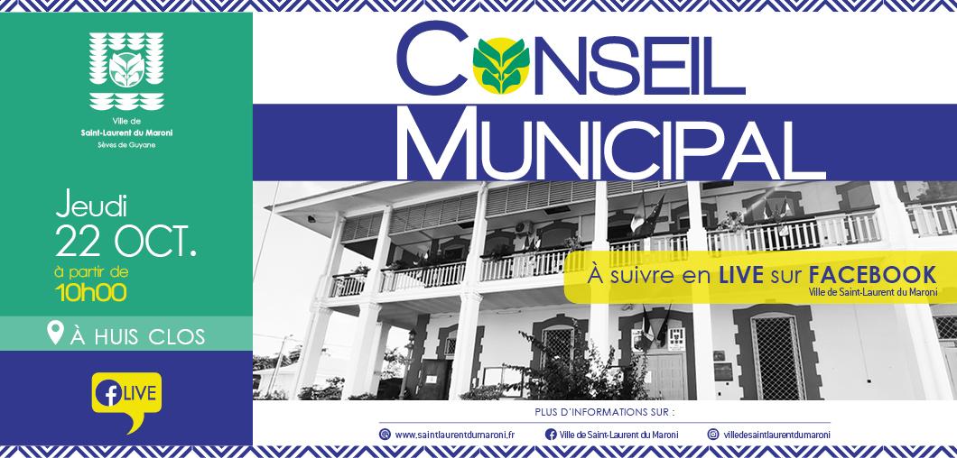 #ConseilMunicipal : Conseil municipal du 22 octobre 2020