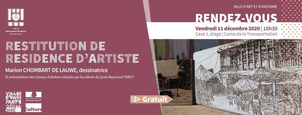#Art : Restitution de la résidence de l'artiste Marion Chombart de Lauwe le 11 décembre
