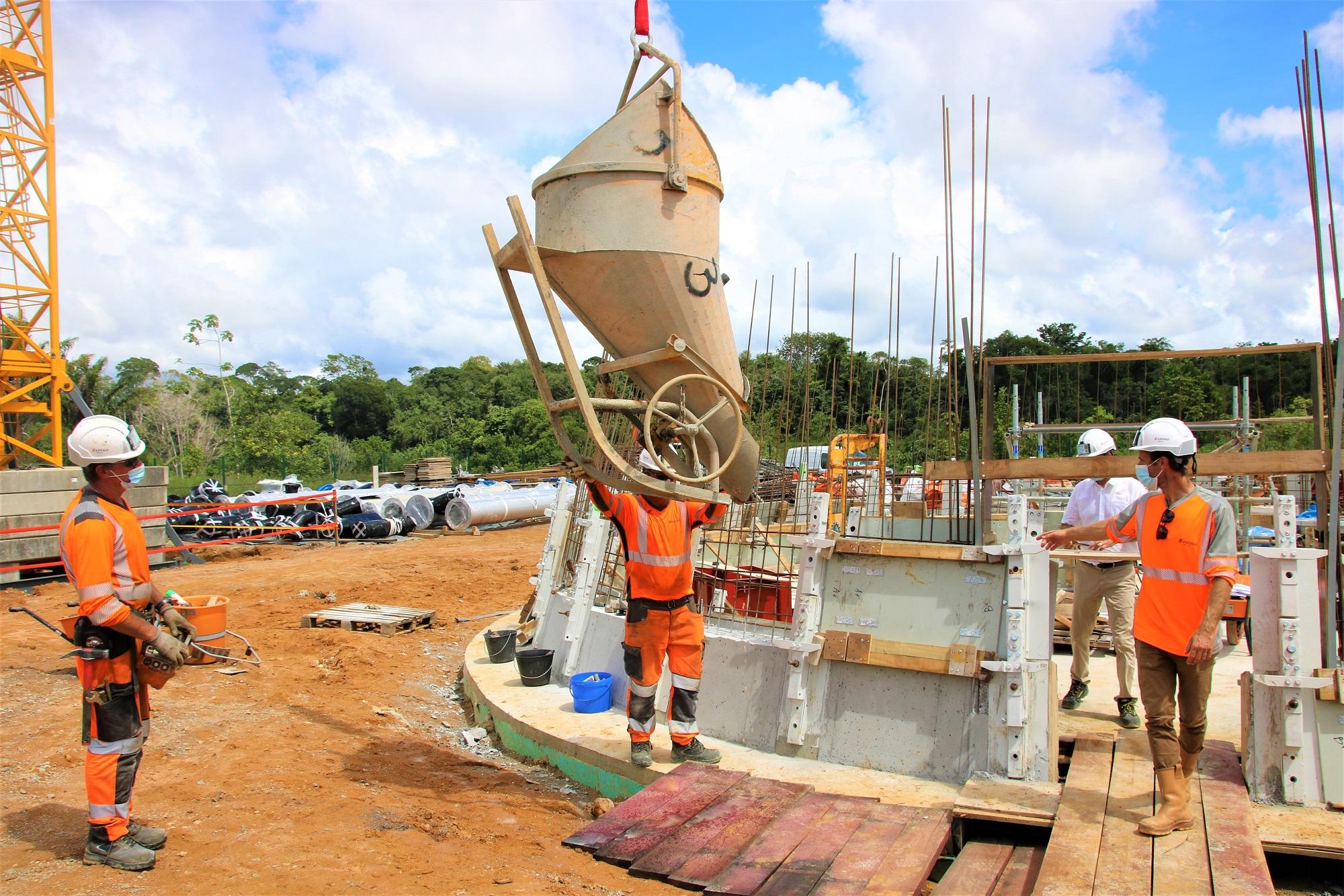 #Travaux : La première pierre du réservoir Paul Castaing est posée