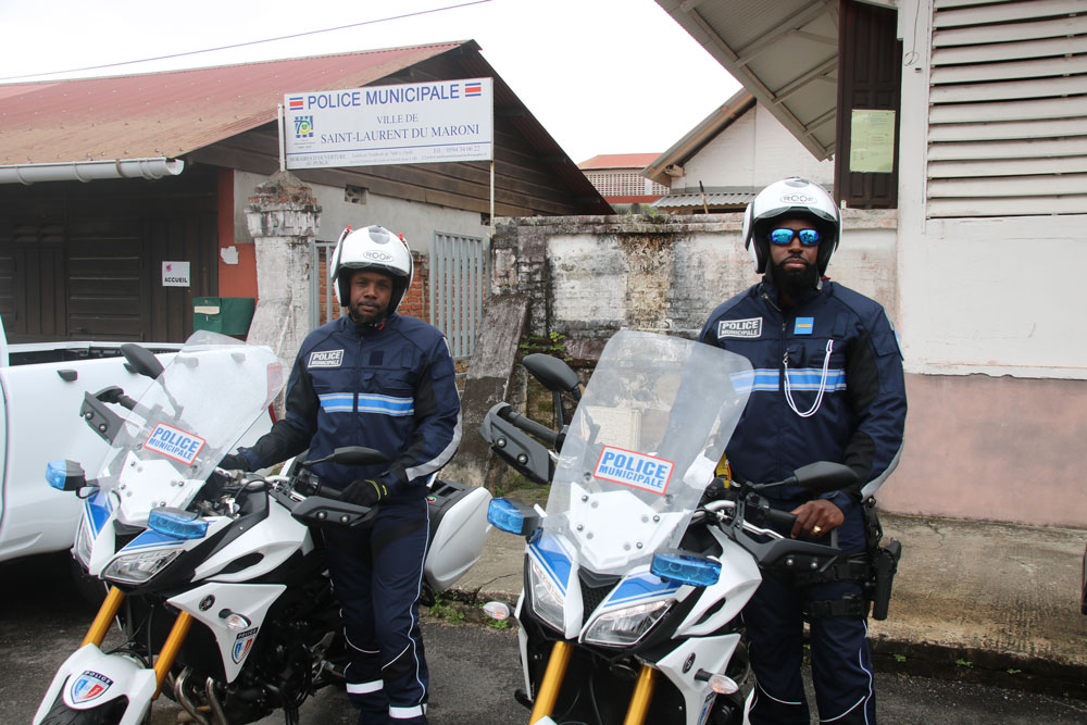 #sécurité : Une nouvelle brigade motorisée à la police municipale de Saint-Laurent du Maroni.