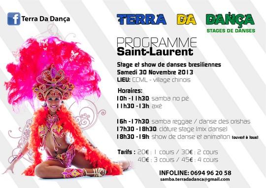 Stage et show de danses brésiliennes de l'association Terra Da Dança
