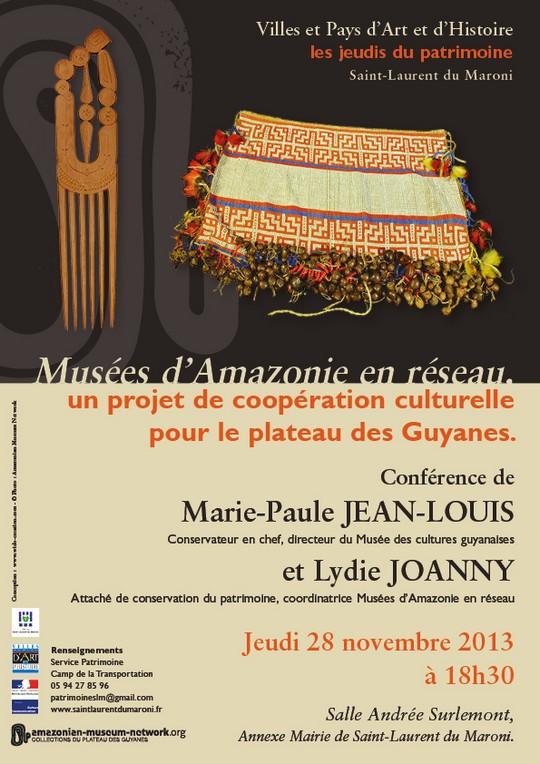 Conférence des Jeudis du Patrimoine : Musées d'Amazonie en réseau