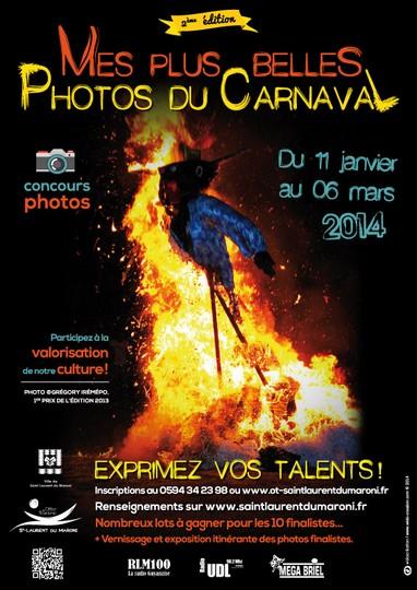 """2ème édition du concours photo """"Mes plus belles photos du Carnaval 2014"""""""