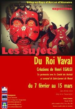 """Exposition d'Henri EGALGI :  """"Les sujets du Roi Vaval'"""