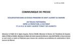 Scolarisation dans les écoles primaires de Saint-Laurent