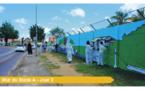 Nos jeunes ont du talent : rénovation de la fresque d'entrée de ville