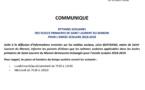 Communiqué - Rythmes scolaires dans les écoles primaires pour l'année scolaire 2018-2019
