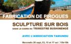 Trimestre bushinenge - Ateliers sculpture sur bois