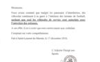 [Sports] : note du service municipal des sports relative à l'interdiction de stationnement dans l'enceinte des terrains de football