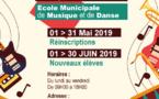 [Ecole municipale de musique et de danse] : Ouverture des inscriptions 2019/2020 pour les nouvelles inscriptions