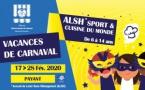"""[ALSH-VACANCES] : Début des inscriptions pour l'ALSH """"Sport et Cuisine du Monde"""" des vacances de Carnaval"""