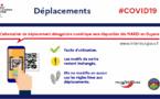 [Déplacements] : pour vous déplacer vous pouvez désormais télécharger une attestation dérogatoire de déplacement numérique