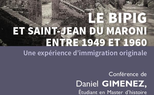 A vos agendas ! Jeudis du patrimoine :  le 26 avril conférence sur le BIPIG