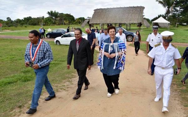 Frédérique Vidal, ministre de l'Enseignement supérieur, de la Recherche et de l'innovation en visite dans l'Ouest Guyanais