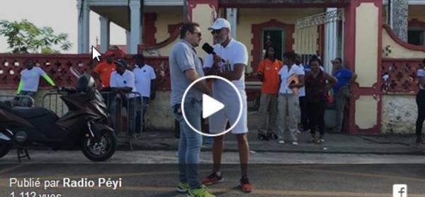 Tour de Guyane : Dominique CASTELLA au micro de radio Peyi