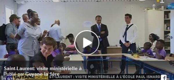 Retour en images avec #guyanela1ere sur la visite ministérielle et la situation exceptionnelle de Saint-Laurent en matière de scolarisation.