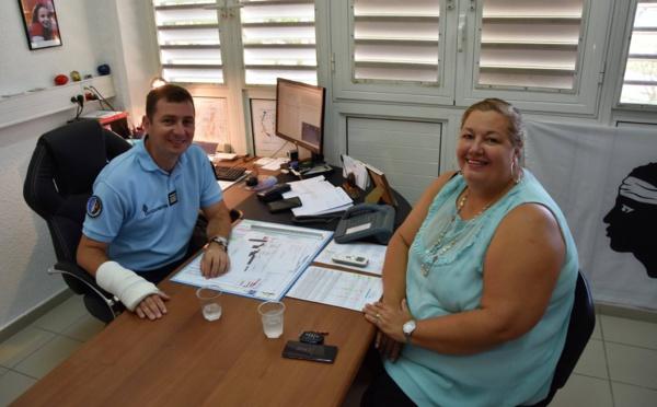 [Sécurité] : Madame le Maire rencontre le commandant de la compagnie de gendarmerie départementale de Saint-Laurent du Maroni