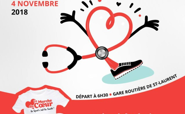 [Sport] : Venez nombreux à la Marche du Coeur, dimanche 4 novembre !