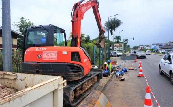 [Eau & Assainissement] : la Ville de Saint-Laurent investit dans des travaux au niveau du carrefour RD11 / RD53