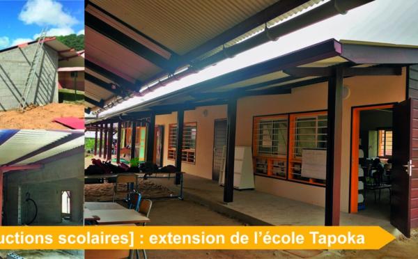 [Constructions scolaires] : fin des travaux de construction à l'école Tapoka au village Terre Rouge
