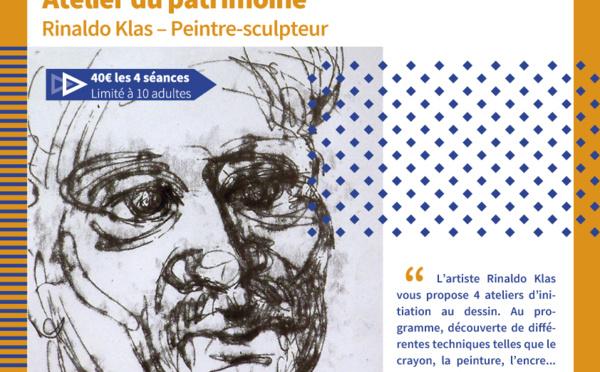 [Atelier du Patrimoine] : Atelier dessin avec l'artiste Rinaldo KLAS