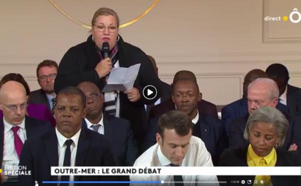 [Grand débat national] : Sophie CHARLES défend les intérêts de Saint-Laurent et de l'Ouest à l'Elysée