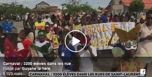 [Spécial 70 ans - Carnaval] : revivez en vidéo avec #guyanela1ere le grand vidé des écoles