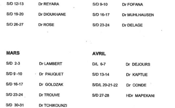 [SANTE] : Médecins de garde à Saint-Laurent du Maroni