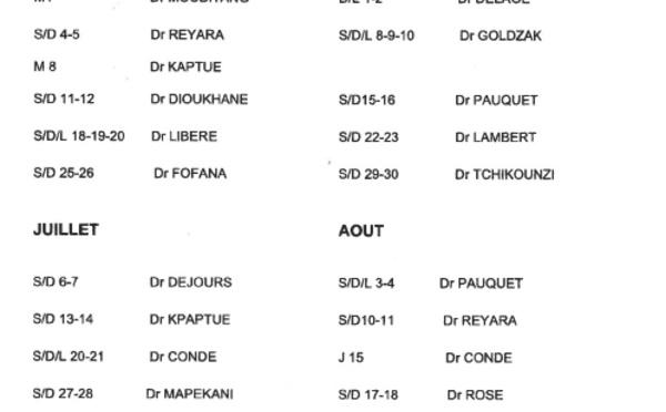 [SANTE] : Médecins de garde à Saint-Laurent du Maroni de mai à août 2019